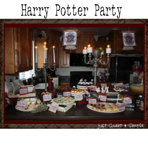 harry potter themed decorations just sweet and simple harry potter