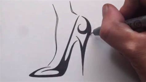 how to draw heels how to draw a high heel shoe tribal design
