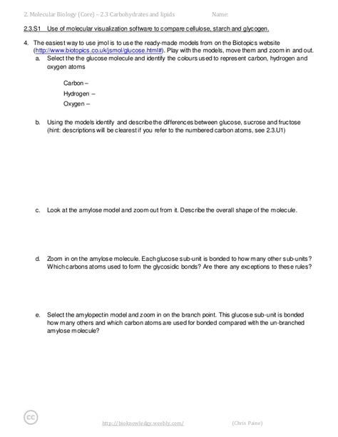 4 2 carbohydrates and lipids bioknowledgy dp notes 2 3 carbohydrates and lipids