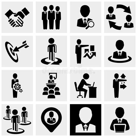 Office And Business Vector Icons Set On Gray Royalty Free Stock Images Image 33973149 Business Vector Icons Set On Gray Stock Vector Illustration Of Office Communication
