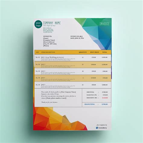 modern invoice template free free invoice templates by invoiceberry the grid system