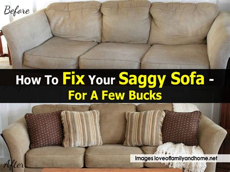 How To Fix Cushion Sag by How To Fix A Saggy Sofa Easy Inexpensive Saggy
