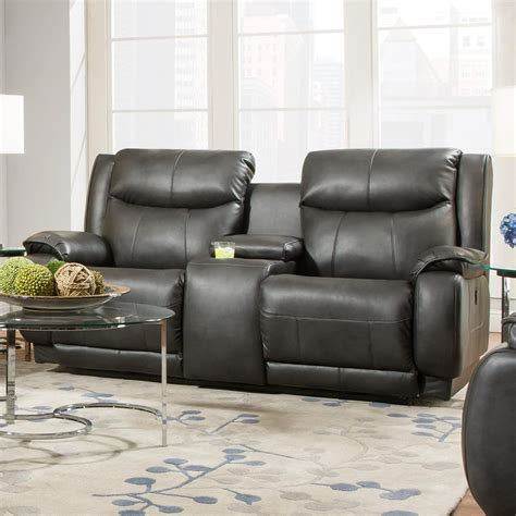 southern motion sofa with power headrest southern motion velocity 875 78p reclining console