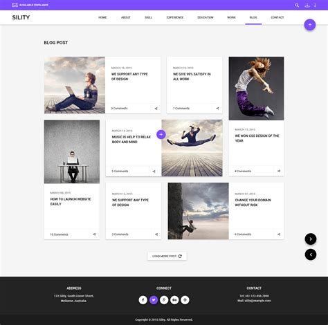 sility vcard cv resume html template resume theme najmlaemah