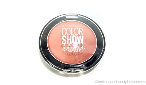 maybelline colorshow blush maybelline color show blush cinnamon review swatches