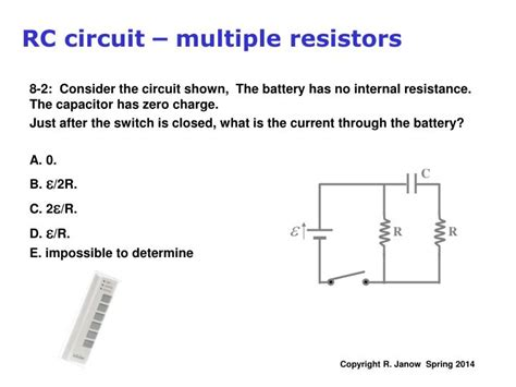 resistor voltage rc circuit ppt kirchhoff s multi loop circuit exles rc circuits charging a capacitor powerpoint
