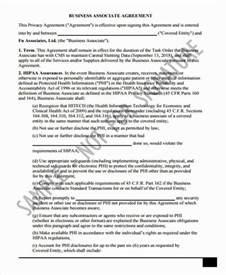 business associate agreement template sle business associate agreement free sle business