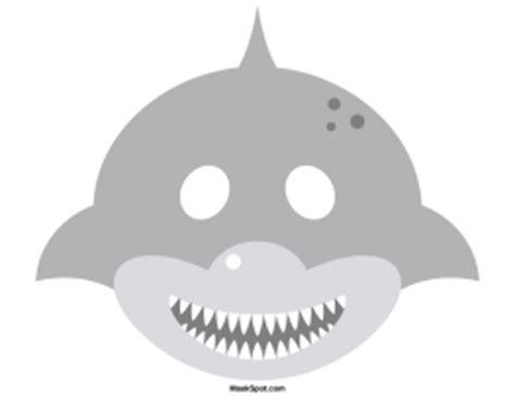printable dolphin mask template printable shark mask