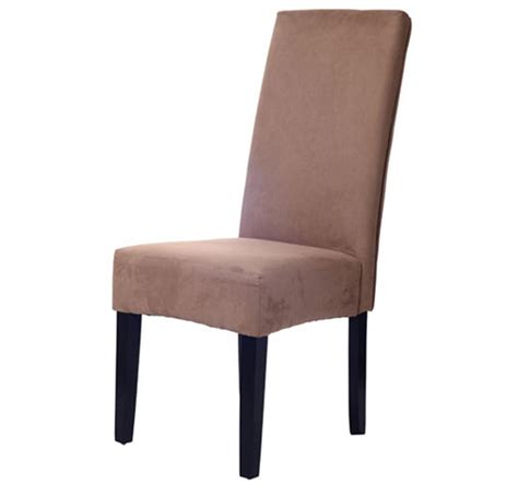 homcom faux suede parsons dining chair brown