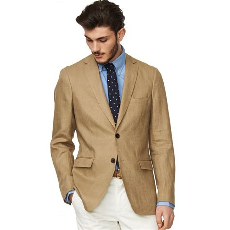 gant solid linen blazer gant from gibbs menswear uk