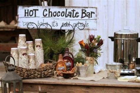 coffee bar at wedding reception