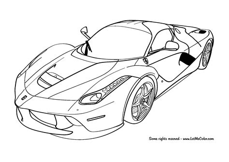 car coloring pages laferrari coloring page letmecolor
