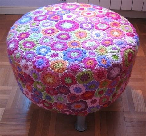 flower ottoman crochet missy s pinterest picks of the week homewares