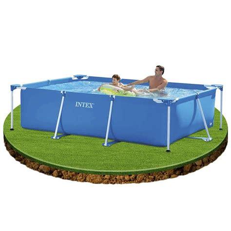 stahlrahmen pool überwintern intex 28271np rechteck stahlrahmen pool 260x160x65