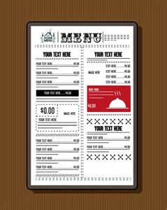 adobe illustrator menu template restaurant menu template classical black white design free