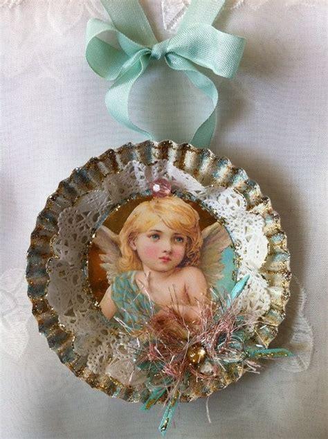 handmade christmas ornament angel victorian style