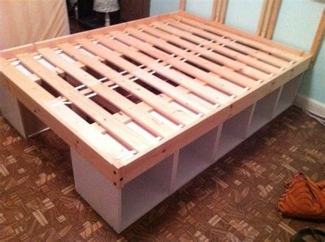 diy storage bed great   kids bed    ground