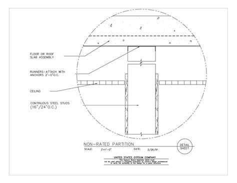 1 Hr Concrete Floor With Wood Framing - usg design studio 09 21 16 433 gypsum board assembly