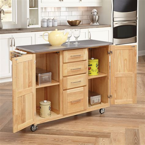 Home Styles Kitchen Island With Breakfast Bar by Home Styles Stainless Steel Top Kitchen Cart With
