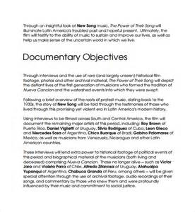 Documentary Template sle template 16 free documents in pdf
