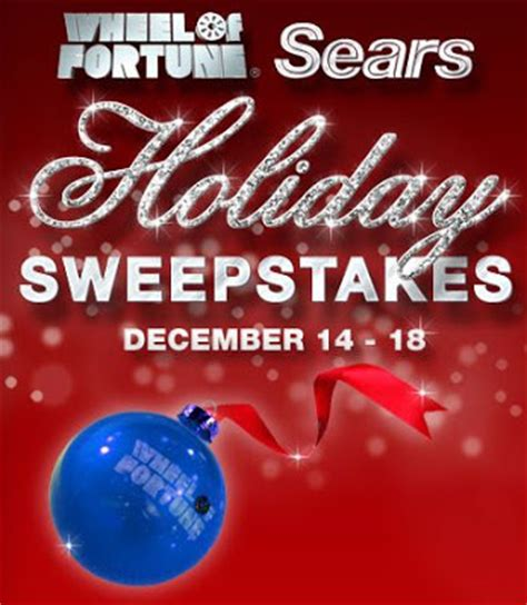 Wheel Of Fortune Sweepstakes - wheel of fortune sears holiday sweepstakes puzzle answers