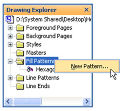 custom line pattern in visio hexagonal custom fill pattern visio guy