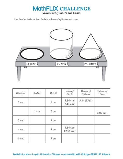 printable math worksheets volume cylinder worksheets volume of cylinders worksheet opossumsoft