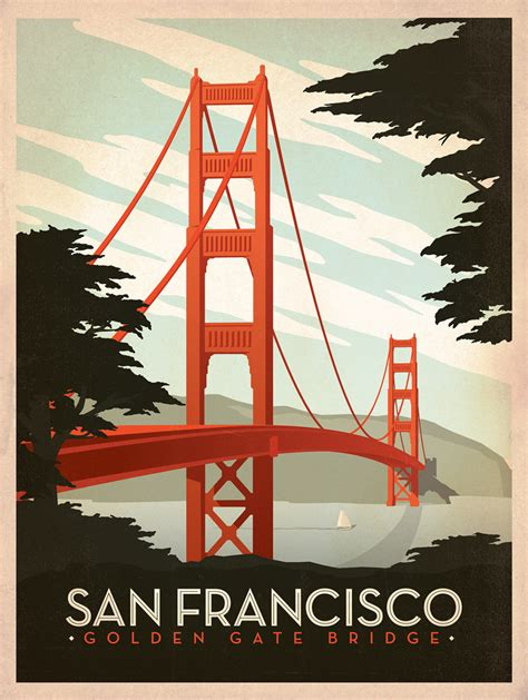 design poster to print classic american travel posters by joel anderson