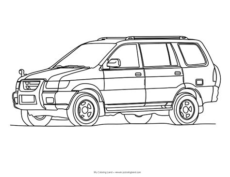 coloring page of a car cars my coloring land