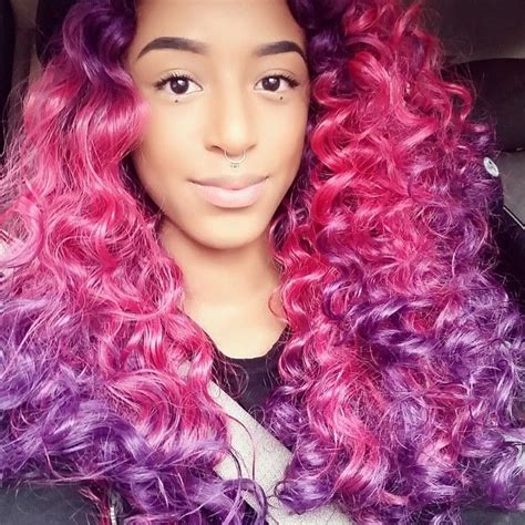 dyed curly hairstyles oltre 1000 idee su dyed curly hair su pinterest capelli