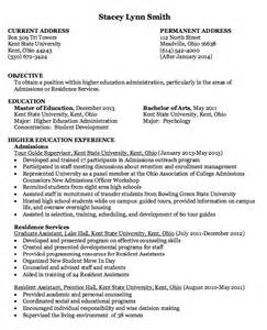 high education administration resume exle resumes design