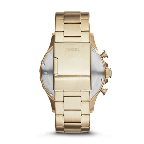Nate Chronograph Gold Tone Stainless Steel nate chronograph gold tone stainless steel fossil