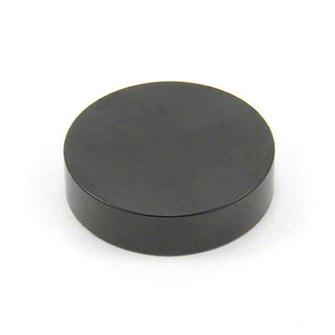Magnet Black by 40mm Dia X 10mm Thick Black Epoxy Coated N42 Neodymium