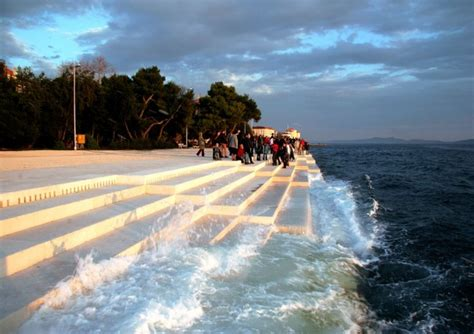 sea organ these stairs by the sea in croatia produce hauntingly