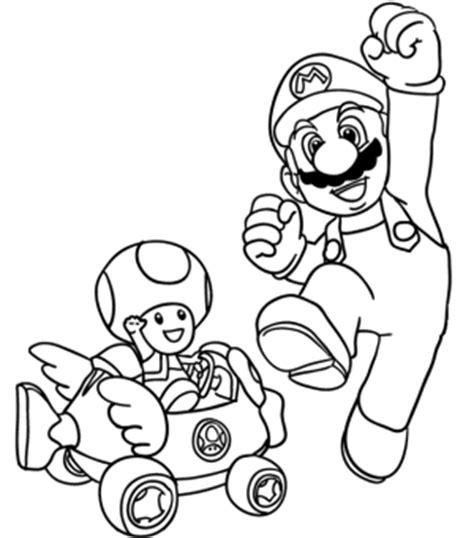 mario racing coloring pages toad super mario bros toad mario coloring pages kids