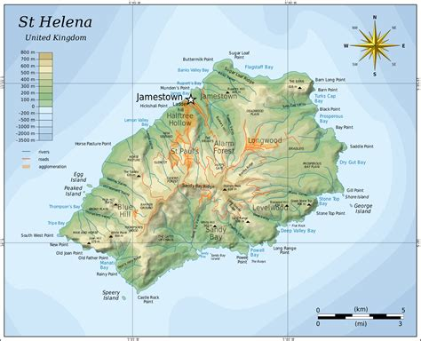 st helena on world map large detailed topographical map of st helena st helena