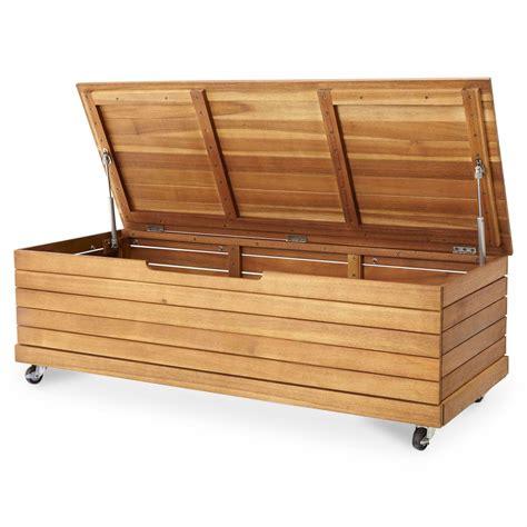 Diy Wooden Storage Box Teak wooden outdoor storage box garden garage sofa seat table