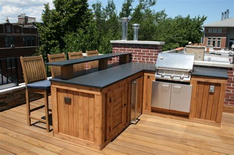 backyard bbq bar designs roof top bbq bar space traditional patio other metro by chicago roof deck garden