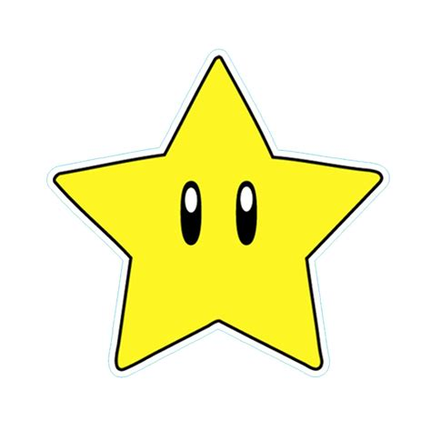 Star Wall Sticker quot super mario star quot by danthekash redbubble