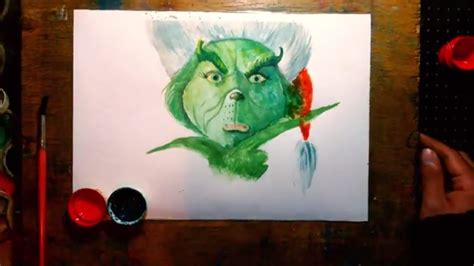 how to draw grinch youtube how to draw watercolor painting the grinch step by step drawing youtube