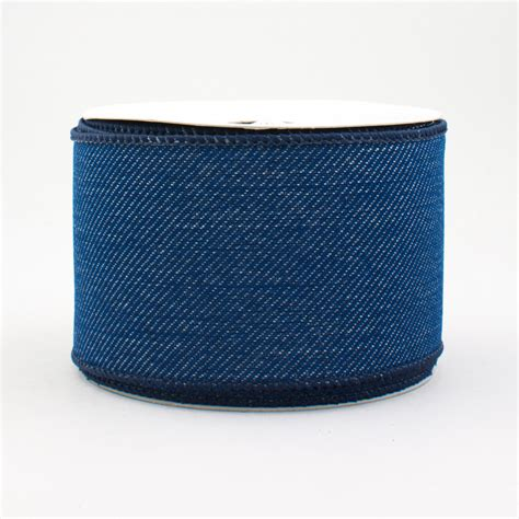 Denim Ribbon 2 5 quot royal denim ribbon blue jean 10 yards rg156441
