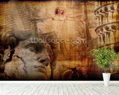 italian wall murals vitruvian italian icons wallpaper wall mural wallsauce