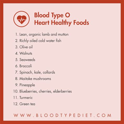 type o supplements cardiovascular check list by blood type