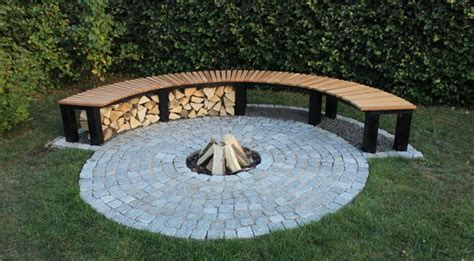 diy curved bench curved fire pit bench fire pit design ideas
