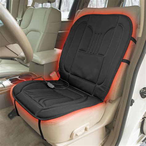 heated seat pad for car the best heated car seat pad hammacher schlemmer