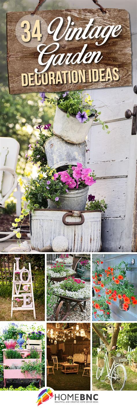 backyard decor pinterest 34 best vintage garden decor ideas and designs for 2018