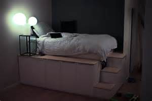 Ikea Platform Bed Hack Inspirations Including Simple by My Bed Is Featured On Ikea Hackers D Oh Yes