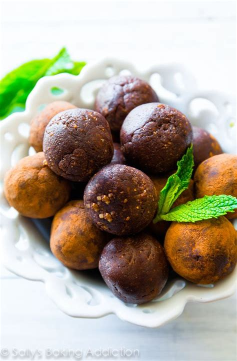 Chocolate Detox Bites by Mint Chocolate Energy Bites Sallys Baking Addiction