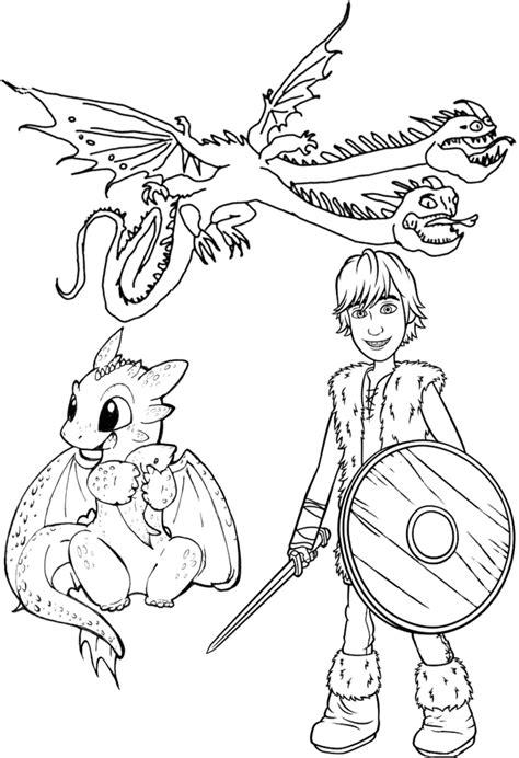 30 Desenhos de Como Treinar seu Dragão para Colorir e
