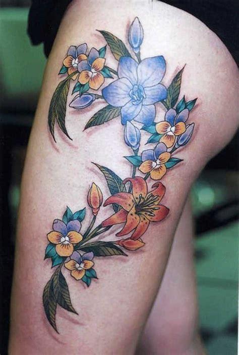 spicy thigh tattoos  designs  girls